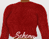 ṩFuzzy Sweater Red