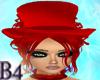 *B4* Red BurlesqueHat