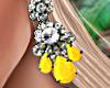 Bali Earrings Yellow
