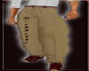 Cream Burgandy Pants
