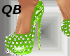 Q~Green Spiked Platforms