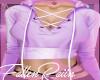 Cropped Hoodie Purple