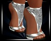 (CZ) Silver heels