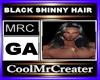 BLACK SHINNY HAIR