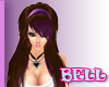 B hair  brown morado