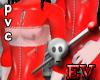 RED PVC Boi Suit