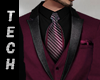 Wine 3 pc Suit