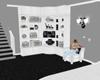 (J) Black&White Bookcase