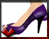 (V) Purple toe Pumps