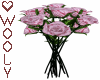 Roses silk pink