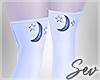 *S Stars and Moon Socks