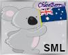 Aussie Koala Sticker Sml