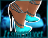 Glams Gown Shoes - Turq