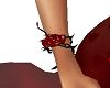 pulsera rosa roja