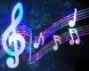 Blue & Purple Music Back