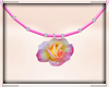 Pink&White Rose Necklace