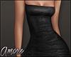 $ Leather Mini Dress  M