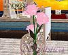 Pink falling rose