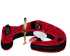 Red And Black Club Couch