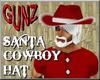 Santa Cowboy Hat/Hair