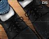 Black Derby Shoes Wht