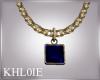 K glam gold n blue neck