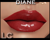LC Diane Glossy Red Lips