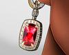 R | earring ruby
