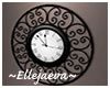Snowy Winter Wall Clock