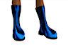 biker blue flame boots