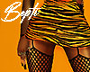 ! Print Skirt+Fishnet XL
