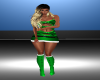 Green Xmas Fit Boots