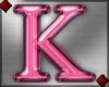 Pink Letter K