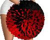 ~V~ Black & Red Pom Poms