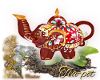 Tea pot elephant red
