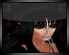 Ella Hat w/hair blk