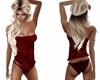 Sexy Red Velvet Corset
