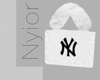 NY Fur Bag White. B