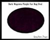 Dark Magenta Fur Rug Ova