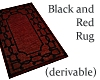Black and Red Rug -deriv