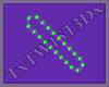 Purple Green Brads