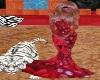 tiger rosso glitter