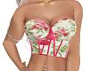 hot pink floral corset