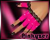 P! PVC Lace Pink Gloves