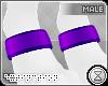 . paw cuffs | purple