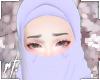 ¤ lilac half niqab