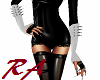 PVC W Spiked Gloves