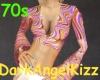 !70s Retro DiscoTop~Pink