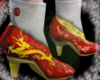 Red/Gold  Dragon Heels