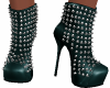 Teal Spike/Studs Boots